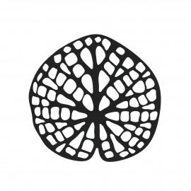 ORIENT  - coaster - metal - L 11,5 x W 0,1 x H 11 cm - black