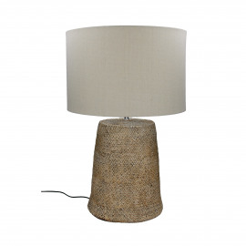HESTUR - table lamp with shade - concrete - DIA 42 x H 65 cm - grey