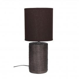 STÓRA  -  lampe de table avec abat-jour - céramique - DIA 18 x H 41 cm - gris foncé