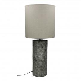 STÓRA  -  lampe de table avec abat-jour - céramique - DIA 29 x H 69 cm - gris