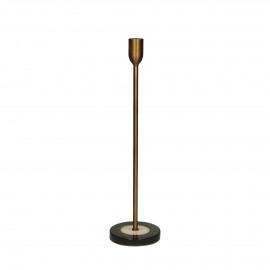 MIXOLOGY - kandelaar - stoneware / ijzer - DIA 10 x H 36 cm - groen