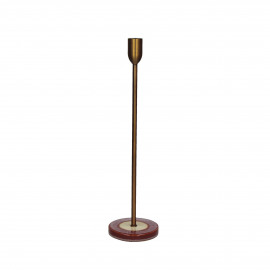 MIXOLOGY - kandelaar - stoneware / metaal - DIA 10 x H 36 cm - Roze