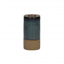 MIXOLOGY - kandelaar - stoneware - DIA 5 x H 10 cm - Blauw