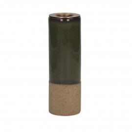 MIXOLOGY - kandelaar - stoneware - DIA 5 x H 15,5 cm - Groen