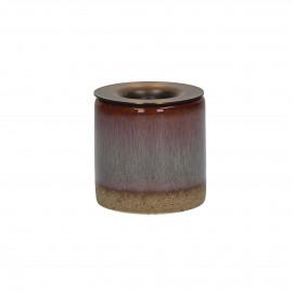 MIXOLOGY - kandelaar - keramiek - licht blauw m/ koper - S - Ø5x5 cm