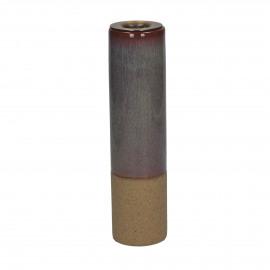MIXOLOGY - kandelaar - stoneware - DIA 5 x H 20,5 cm - lichtblauw