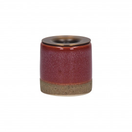 MIXOLOGY - kandelaar - stoneware - DIA 5 x H 5 cm - Roze