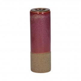 MIXOLOGY - kandelaar - stoneware - DIA 5 x H 15,5 cm - Roze