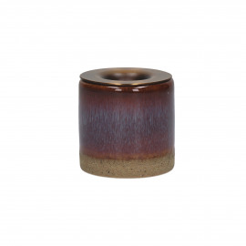 MIXOLOGY - bougeoir - grès - DIA 5 x H 5 cm - pourpre