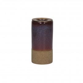 MIXOLOGY - bougeoir - grès - DIA 5 x H 10 cm - pourpre