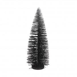 SNOWY - boom met sneeuw - plastic - zwart - M - 15x41 cm
