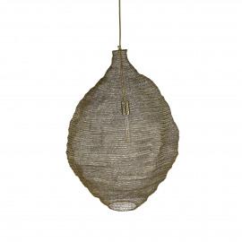 MAILLE - lampe suspendue - métal - or - Ø68x72 cm