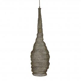 MAILLE - hanglamp - metaal - goud - Ø25x60 cm