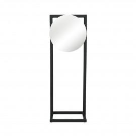 AMDO - spiegel op voet - metaal - zwart - 16x12x46 cm