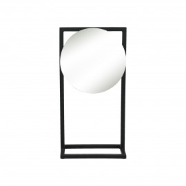 AMDO - spiegel op voet - metaal - zwart - 20,5x12,5x40 cm