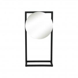 AMDO - mirror on stand - metal - L 20,5 x W 12,5 x H 40 cm - black