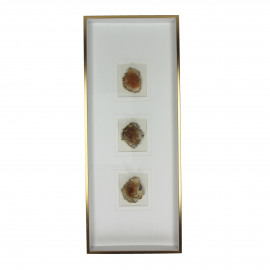 STONO - wall deco gemstones - rust - 20x5x51 cm