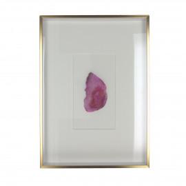 STONO - wall deco gemstone - pink - 25,5x5x35,5 cm