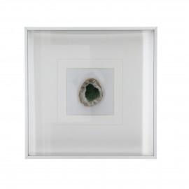 STONO - muur decoratie edelsteen - donker groen - 25,5x5x25,5 cm