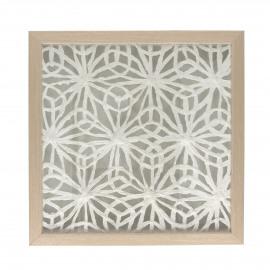 FLORO - décoration murale fleur - aluminium - L 40 x W 4 x H 40 cm - naturel