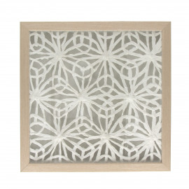 FLORO - muur decoratie bloem - houten kader - 40x40x4 cm