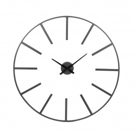 ZOULOU - wall clock - metal - black - Ø80 cm