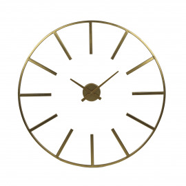 ZOULOU - horloge murale - métal - DIA 80 cm - or