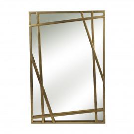 LOMBA - miroir - métal - antique noir - 61x91,5 cm