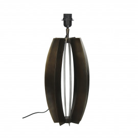 FACTO - table lamp - metal - DIA 22 x H 50 cm - brown