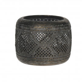 BANJIR - lanterne - métal/verre - L - Ø14xh11 cm
