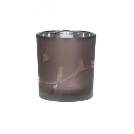 FLY - photophore - verre - DIA 7,5 x H 8 cm - rose