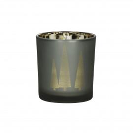 FLY - photophore - verre - DIA 7,5 x H 8 cm - cuivre