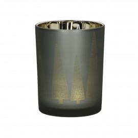 FLY - photophore - verre - DIA 10 x H 12,5 cm - cuivre