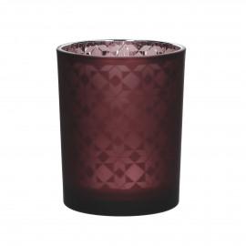STARA - photophore - verre - DIA 10 x H 12,5 cm - rouge
