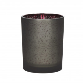 FIR - photophore - verre -  smoke - M - Ø10x12,5 cm