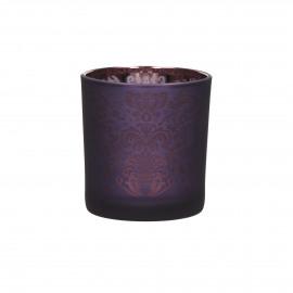 TIGUE - photophore - verre  - violet - S - Ø7,5x8 cm