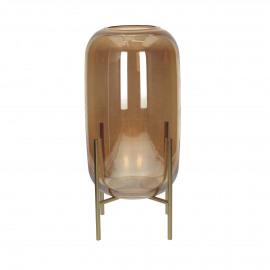 CONRAN - vaas - glas - amber- L - Ø16,5x36 cm