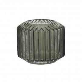 SHIE - vase - verre - gris - S- Ø12x10 cm