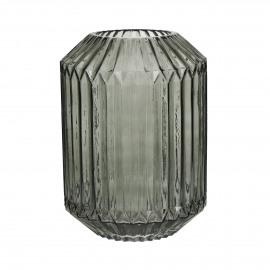 SHIE - vase - verre - gris - L - Ø18x25 cm