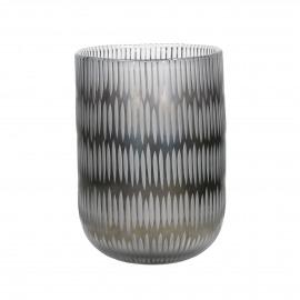 DENA - glass - DIA 18,5 x H 25,5 cm - grey