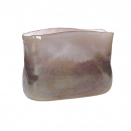 LUVIA - vaas - glas - L 23,5 x W 8,5 x H 17,5 cm - multicolor
