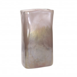 LUVIA - vaas - glas - L 15,5 x W 8,5 x H 30 cm - multicolor