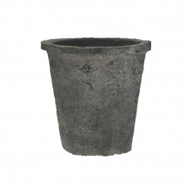 DAMOSIS - flower pot with moss - earthenware - DIA 15 x H 14,5 cm - anthracite