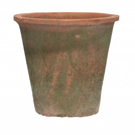 DAMOSIS - flower pot with moss - earthenware - DIA 20 x H 18,5 cm - red