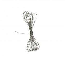 GLITTER - kerstslinger - ijzerdraad - L 30 cm - zilver