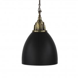 SIAM - hanglamp - metaal - antiek zwart - 46x60 cm - E27
