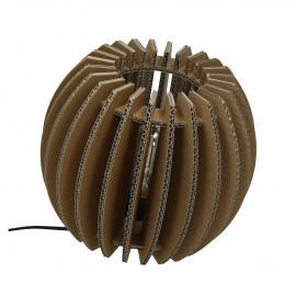 FELICE - tafel lamp bol - gerecycleerd karton - naturel - Ø 25 cm