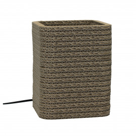 FELICE - table lamp square - recycled cardboard - natural - 16x16x20