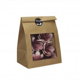 BAHAI - geschenkzakje bloemen - 6 bloemen - wit/roos