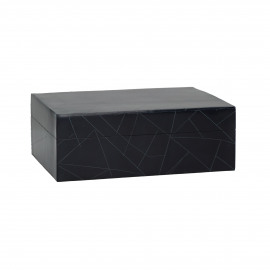 SECRET NIGHT - box - resin - L 18 x W 13 x H 6,5 cm - dark blue